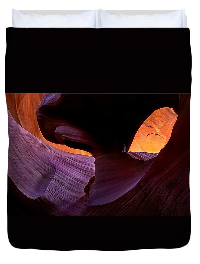 Eye Duvet Cover featuring the photograph Desert Eye by Mike Dawson
