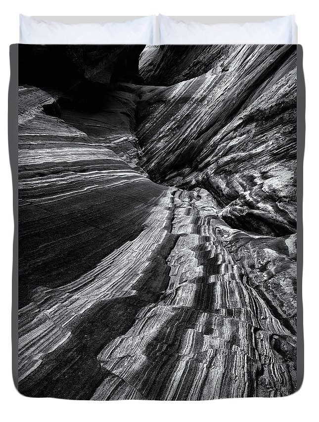 Canyon Duvet Cover featuring the photograph Desert Flow by Mike Dawson