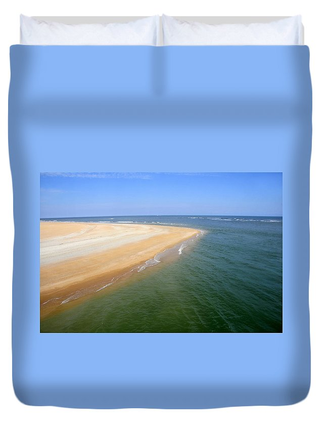 Island Duvet Cover featuring the photograph Desert Island by David Lee Thompson