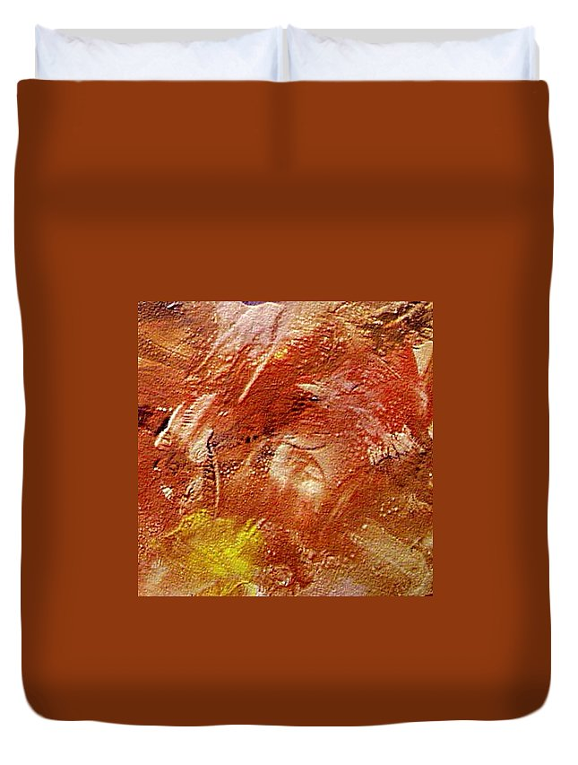 Desert Land Duvet Cover featuring the painting Desert Land by Dragica Micki Fortuna