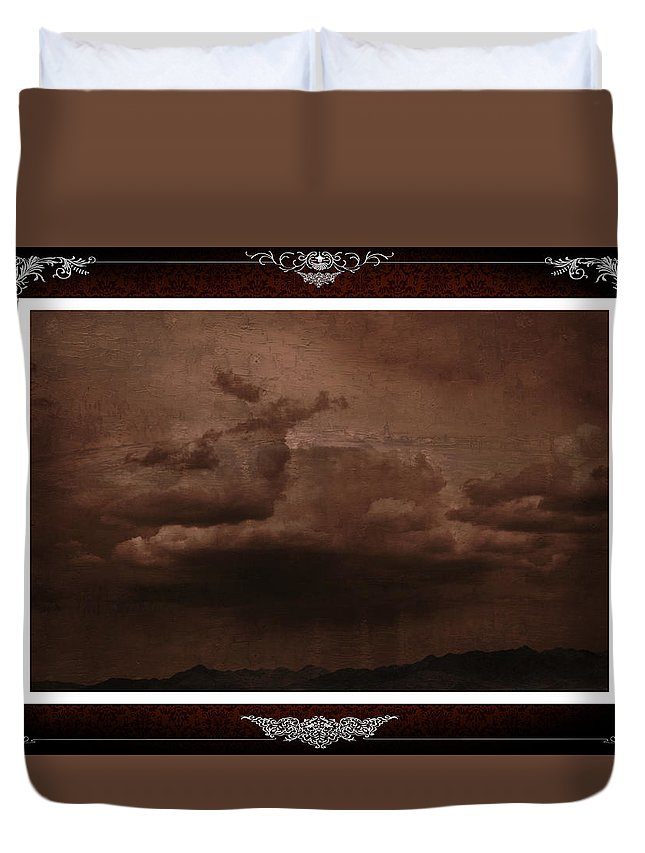 Infrared Duvet Cover featuring the photograph Desert Rain by One Rude Dawg Orcutt