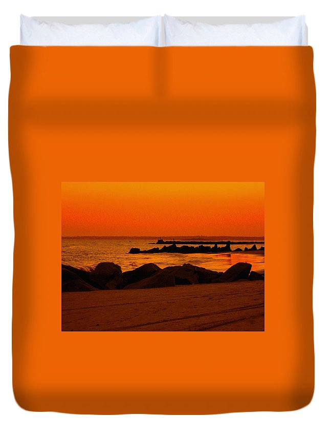 Landscape Duvet Cover featuring the photograph Desert Skies by Kendall Eutemey