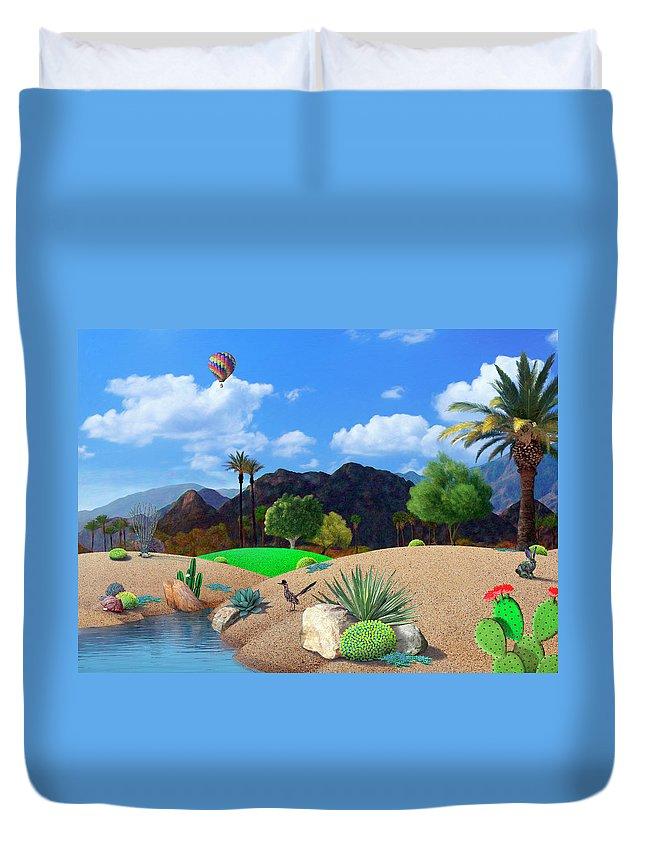 Desert Duvet Cover featuring the digital art Desert Splendor by Snake Jagger