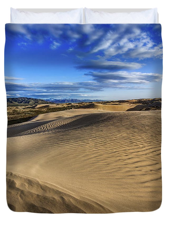 Desert Texture Duvet Cover featuring the photograph Desert Texture by Chad Dutson