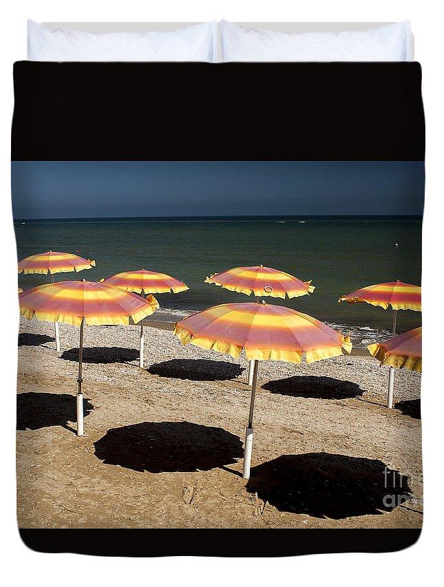 Beach Duvet Cover featuring the photograph Deserted Beach by Christian Hallweger