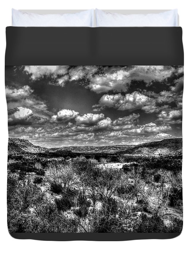 Desert Duvet Cover featuring the photograph Desertscape by Doc Hafferty