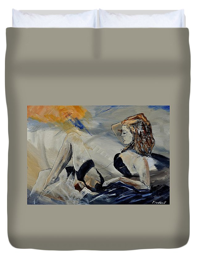 Female Duvet Cover featuring the painting Deshabille 570150 by Pol Ledent