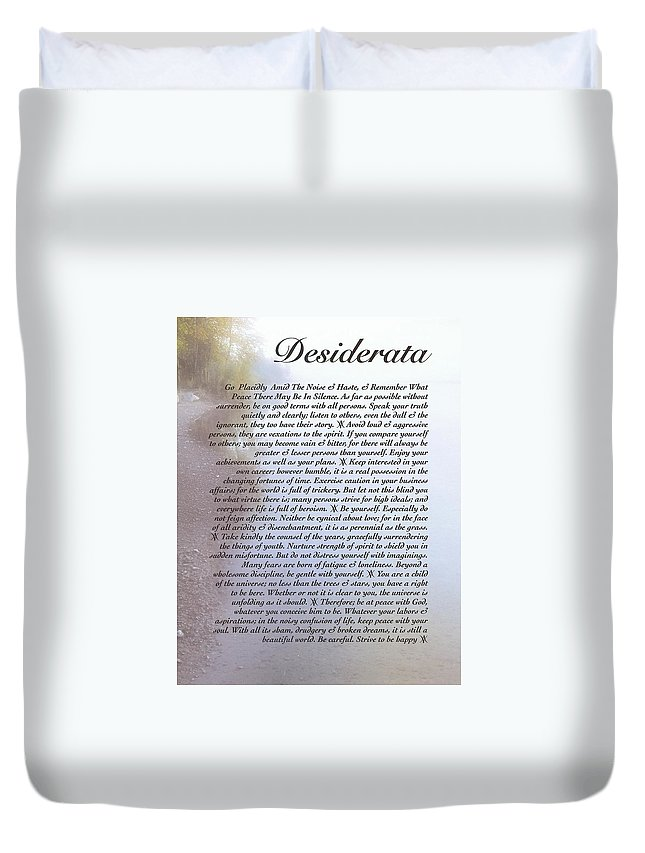 Desiderata Duvet Cover featuring the painting Desiderata 11 by Desiderata Gallery