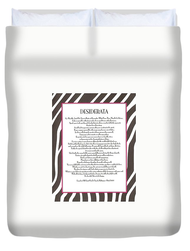 Desiderata Duvet Cover featuring the photograph Desiderata 12 by Desiderata Gallery