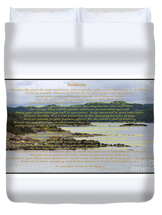 Barbara Griffin Duvet Cover featuring the photograph Desiderata Rugged Coastline by Barbara Griffin