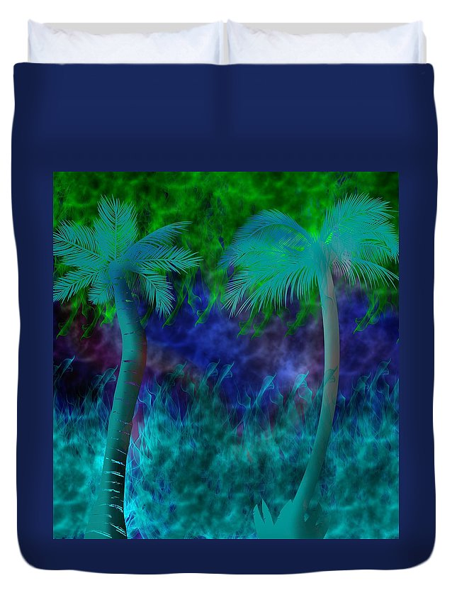 Palm Duvet Cover featuring the digital art Design #13 by Bukunolami