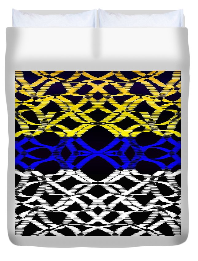 Colors Duvet Cover featuring the digital art Design #14 by Bukunolami