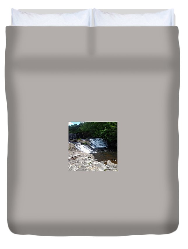 Desoto Falls Duvet Cover featuring the photograph Desoto Falls In Alabama by Cheyene M Lopez