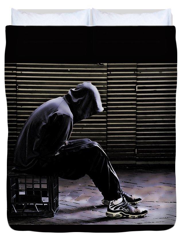 Despair Duvet Cover featuring the photograph Despair by Sheila Smart Fine Art Photography