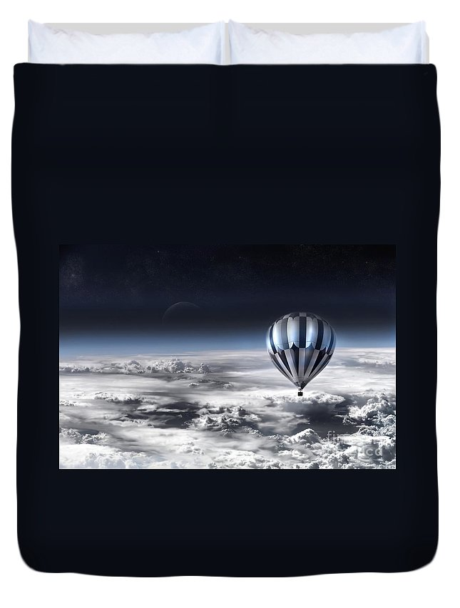 Sky Duvet Cover featuring the photograph Destiny by Jacky Gerritsen