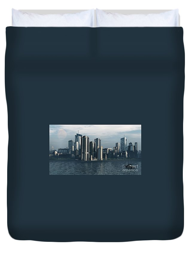 Futurism Duvet Cover featuring the digital art Destiny by Richard Rizzo