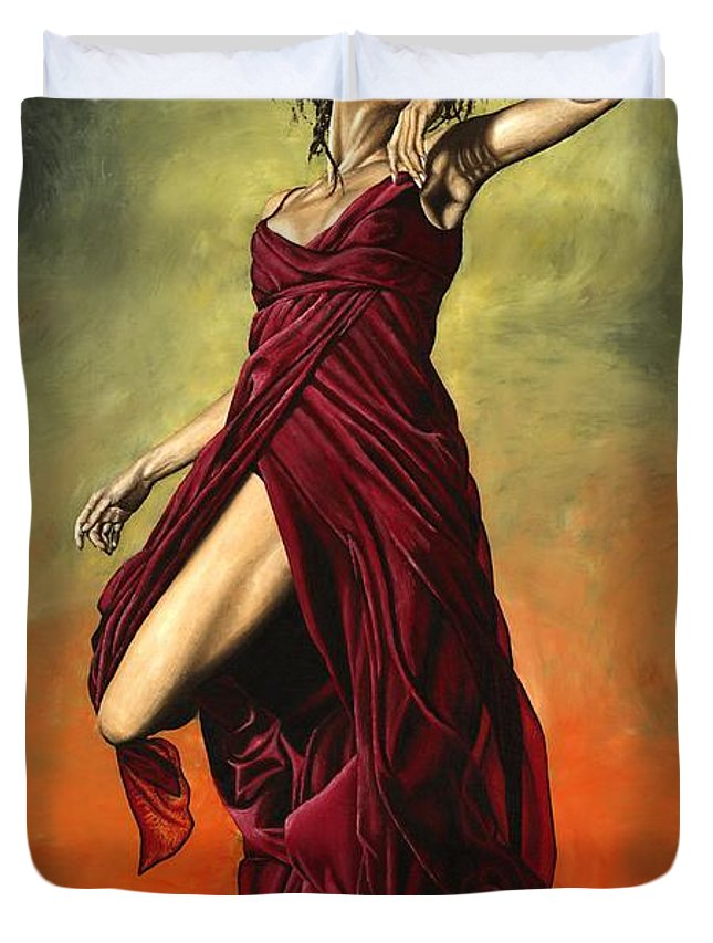 Dance Duvet Cover featuring the painting Destiny's Dance by Richard Young