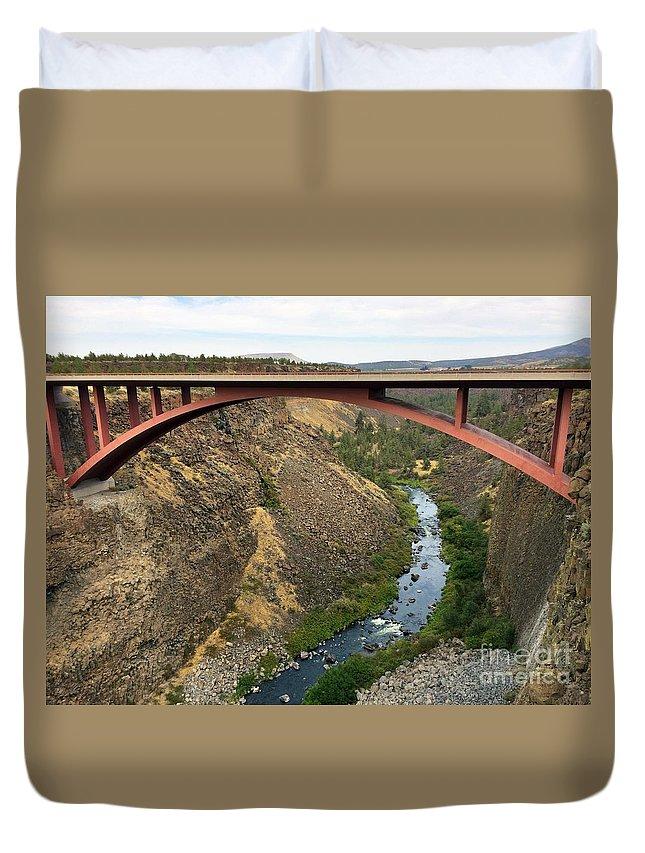 Desutches River Bridge Duvet Cover featuring the photograph Desutches River Bridge by Bernd Billmayer