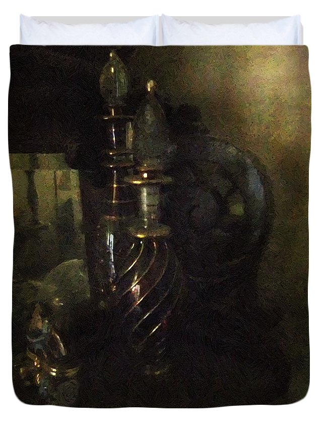 Antiquated Duvet Cover featuring the painting Detail - Miss Havisham's Parlor by RC DeWinter