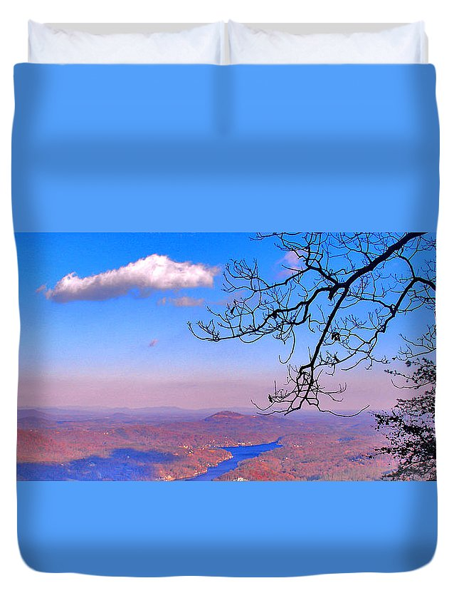 Landscape Duvet Cover featuring the photograph Detail From Reaching For A Cloud by Steve Karol