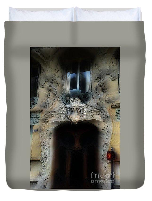 Paris Duvet Cover featuring the photograph Detail Parisienne by Eva Maria Nova