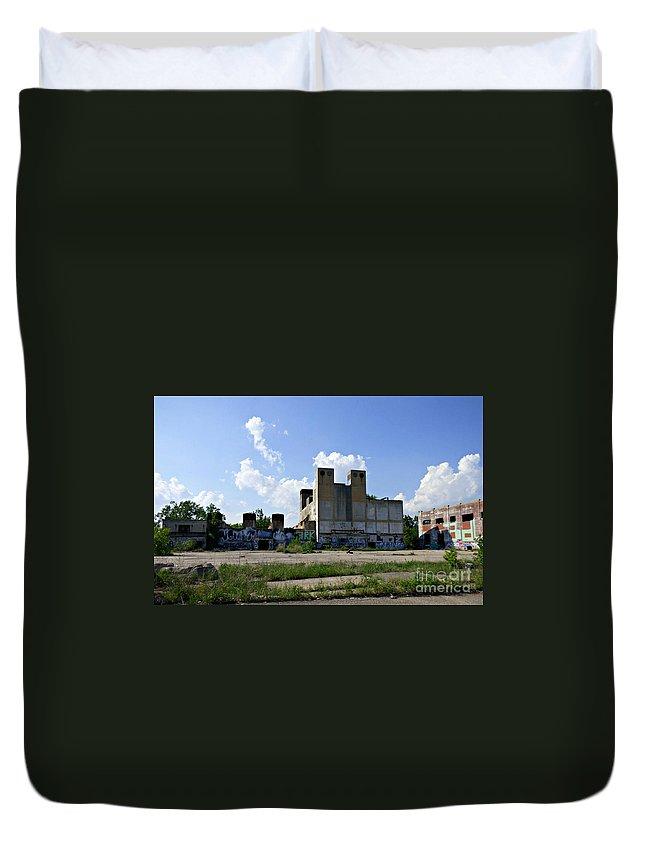 Factory Duvet Cover featuring the photograph Detroit Rock City by Scott Ward