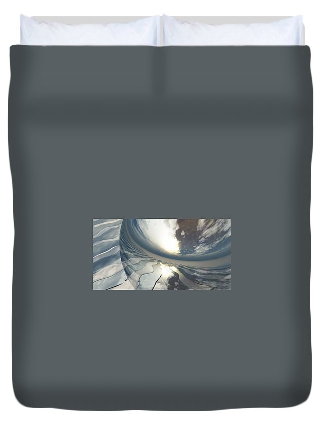 Fantasy Duvet Cover featuring the digital art Deviating World by Richard Rizzo