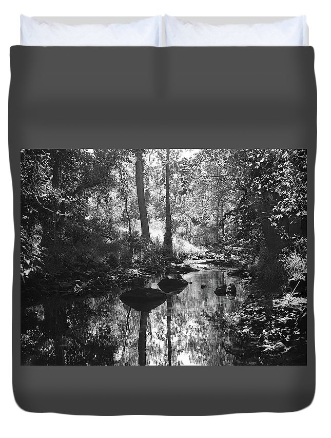 Duvet Cover featuring the photograph Devil Water In Sunlight by Iain Duncan