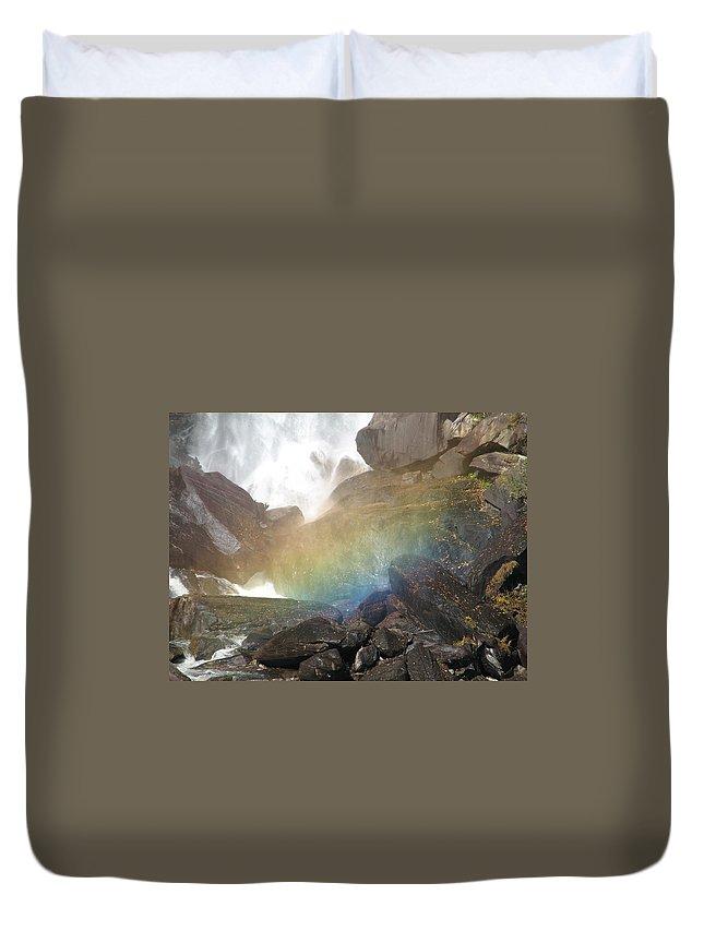 Devil's Fork Duvet Cover featuring the photograph Devil's Rainbow by Kelly Mezzapelle