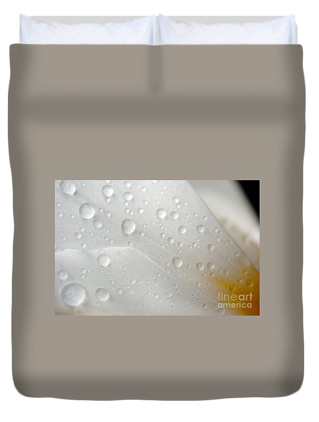 Dew Duvet Cover featuring the photograph Dew Drops by Kristin Yata