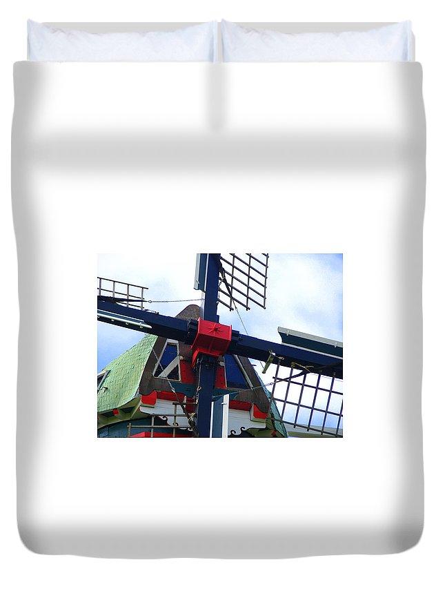Dezwaan Duvet Cover featuring the photograph Dezwaan Windmill Holland Michigan by Michelle Calkins