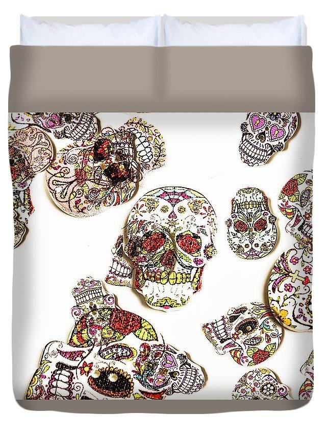 Sugar Skull Duvet Cover featuring the photograph Dia De Muertos by Jorgo Photography - Wall Art Gallery
