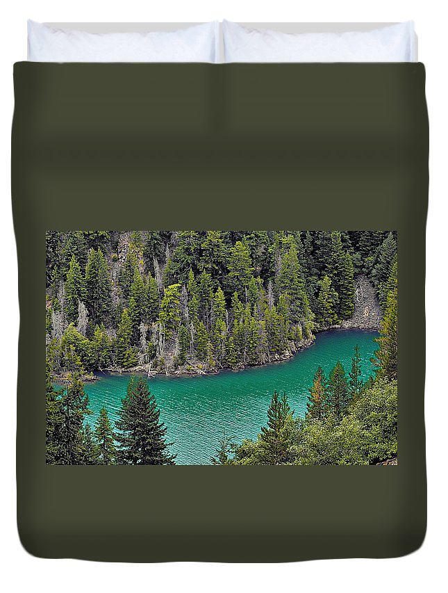 Turquoise Duvet Cover featuring the photograph Diabolo Lake North Cascades Np Wa by Christine Till