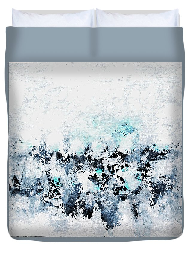 Ocean Duvet Cover featuring the painting Diamond Blue by Robin Jorgensen
