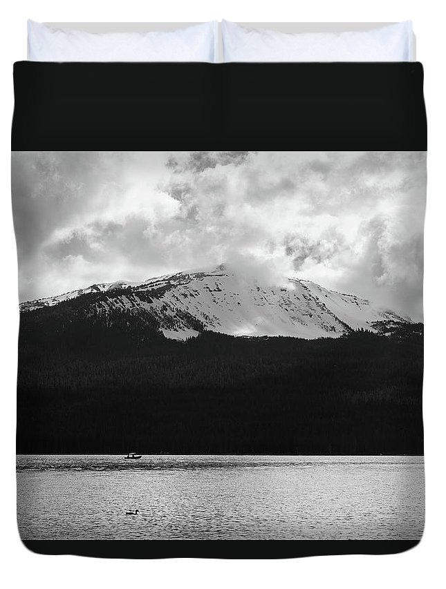 Duvet Cover featuring the photograph Diamond Lake by Jade Woods