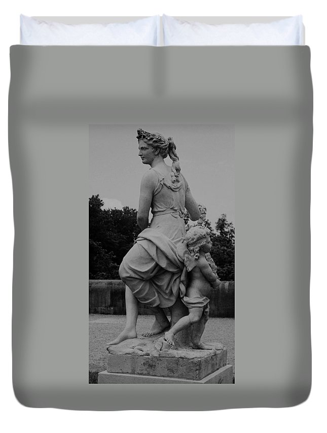 Figurative Duvet Cover featuring the painting Diana by Eric Schiabor