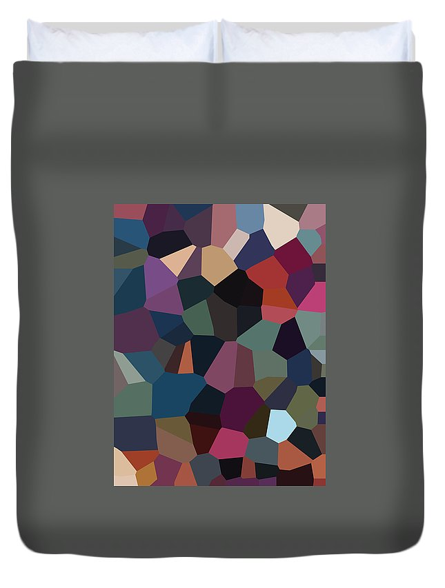 Digital Artwork Duvet Cover featuring the digital art Digital Artwork 590 by Maureen Lyttle