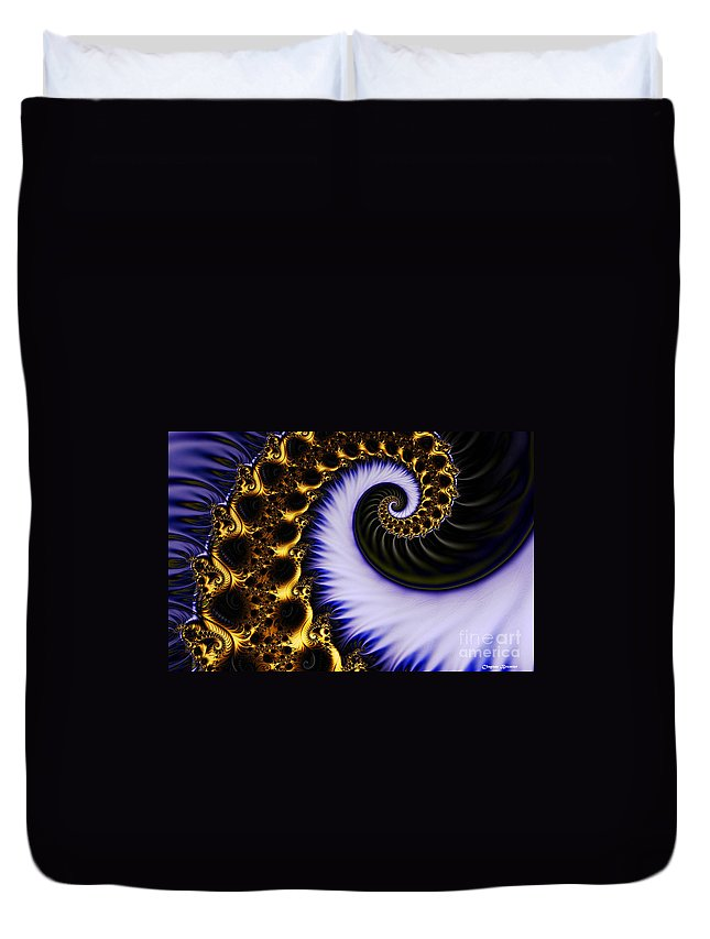 Clay Duvet Cover featuring the digital art Digital Wave by Clayton Bruster