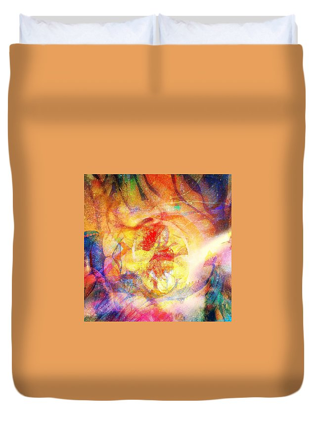 Fania Simon Duvet Cover featuring the digital art Digitally Different by Fania Simon