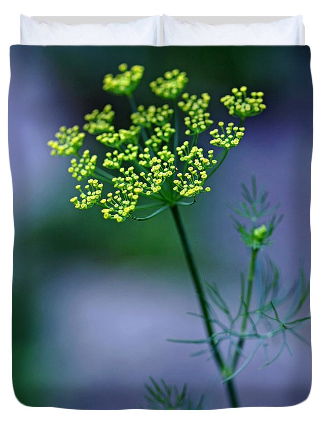 Dill Duvet Cover featuring the photograph Dill Sprig by Debbie Oppermann