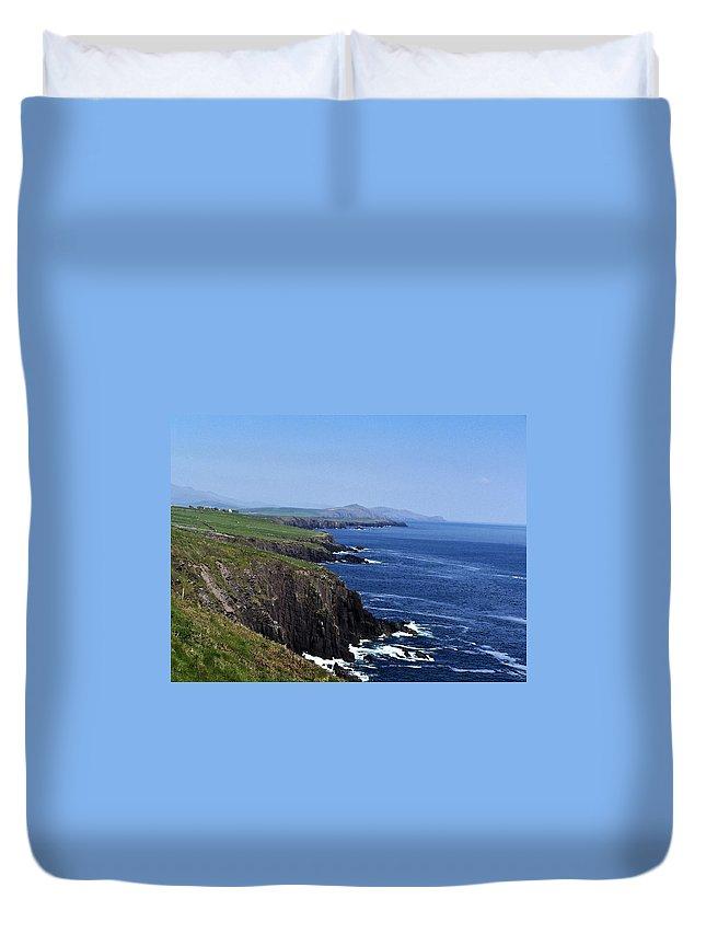Irish Duvet Cover featuring the photograph Dingle Coast Near Fahan Ireland by Teresa Mucha