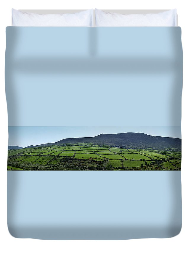 Irish Duvet Cover featuring the photograph Dingle Peninsula Panorama Ireland by Teresa Mucha