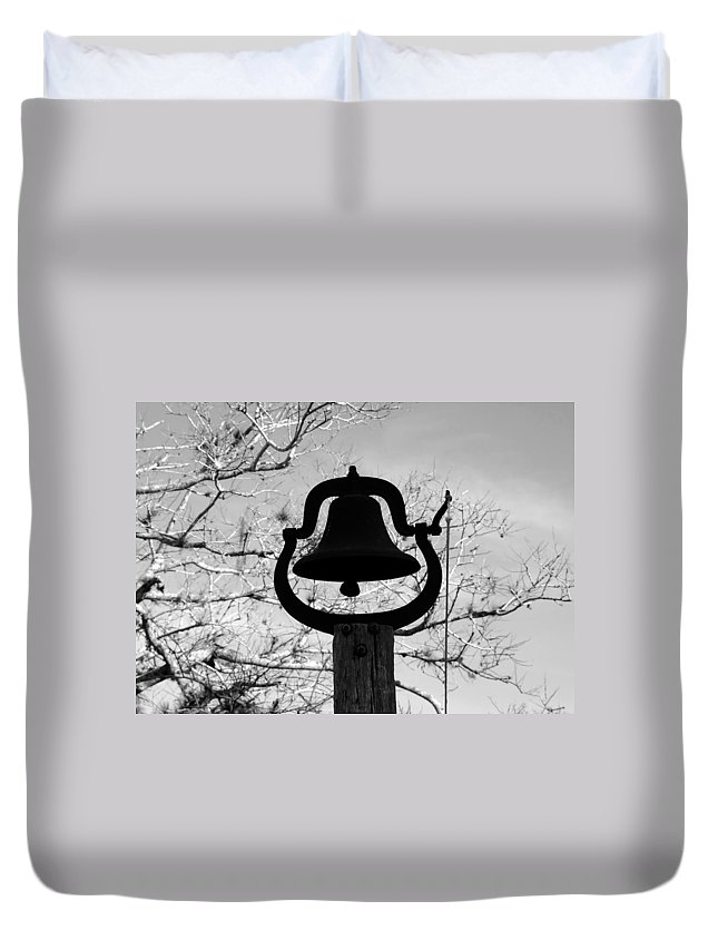 Dinner Bell Duvet Cover featuring the photograph Dinner Bell by David Lee Thompson