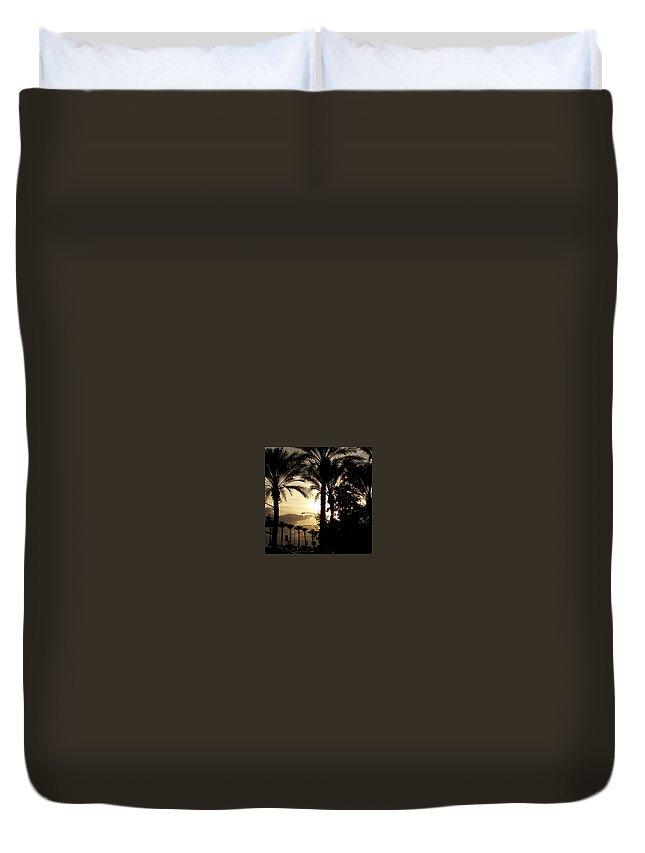 Sun Duvet Cover featuring the photograph Dinner In The Sun Light by Lisa Cooley