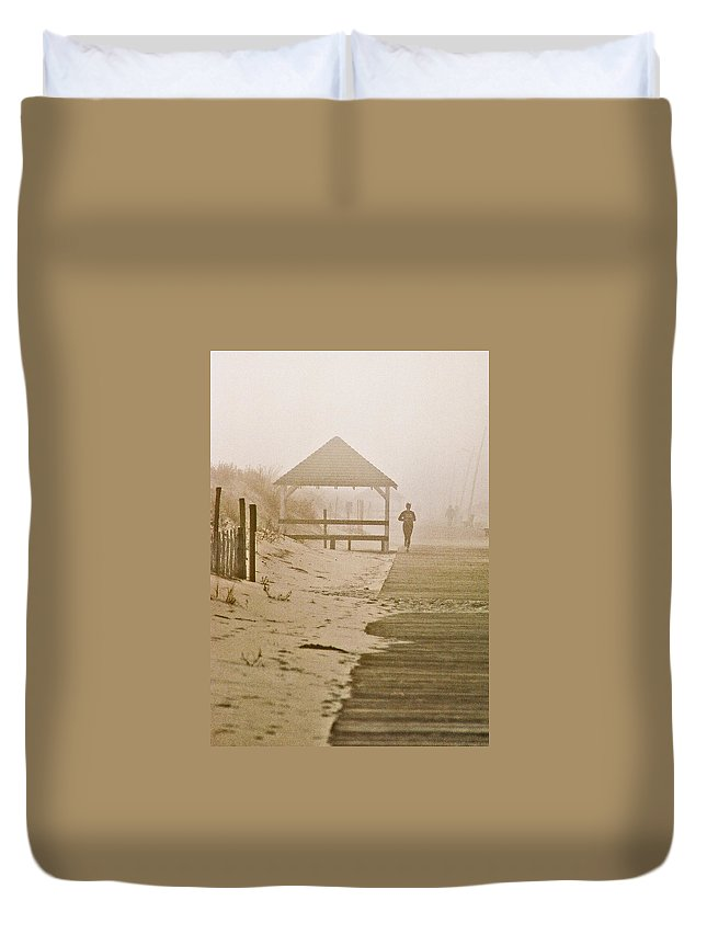 Landscape Duvet Cover featuring the photograph Disappearance by Steve Karol