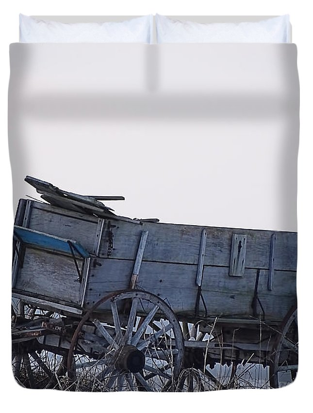 Theresa Campbell Duvet Cover featuring the photograph Discovery From The Past by Theresa Campbell