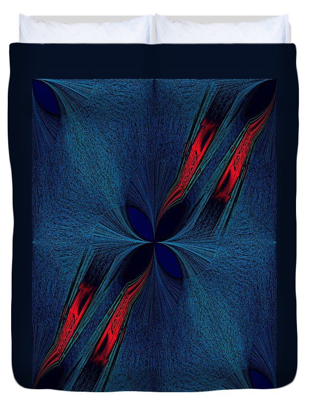 Dislocation Duvet Cover featuring the digital art Dislocation by Tim Allen