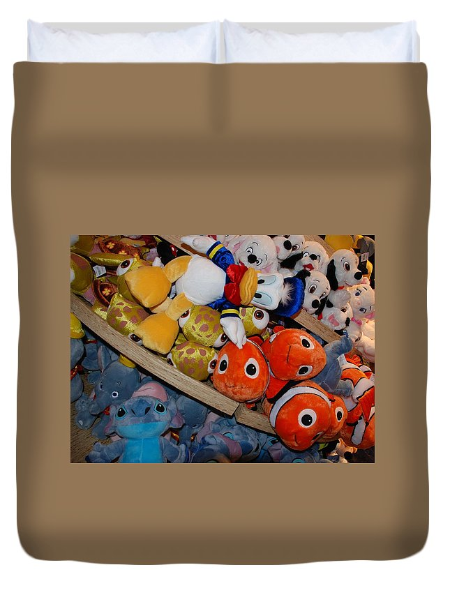 Colors Duvet Cover featuring the photograph Disney Animals by Rob Hans