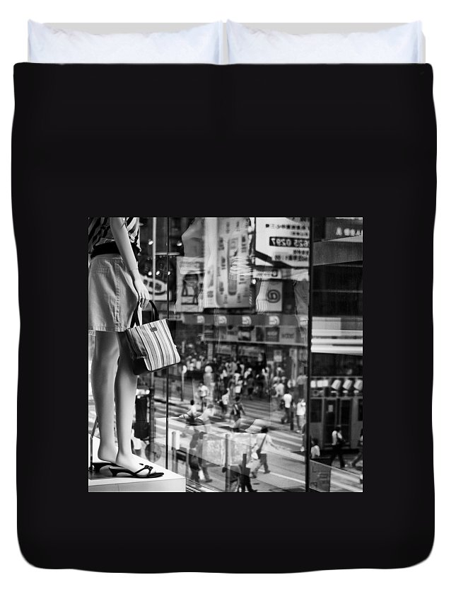 Mannequin Duvet Cover featuring the photograph Display by Dave Bowman