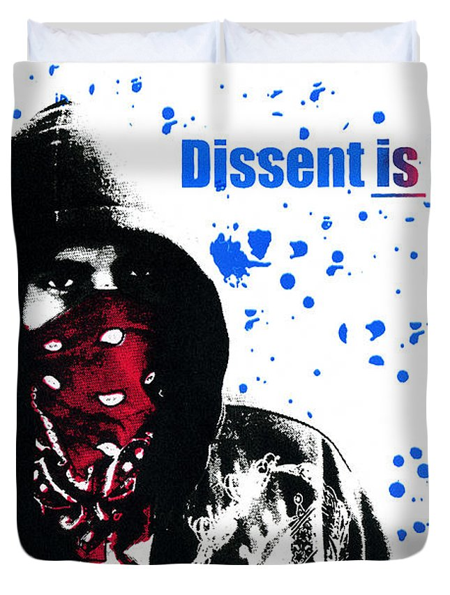 Screen Print Duvet Cover featuring the photograph Dissent Is Patriotic by Jeffery Ball